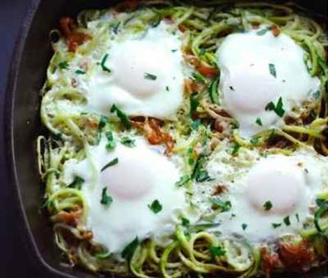 Bacon Zucchini Egg Nest, paleo diet, paleo recipes, egg nests, paleo egg nests recipe, paleo breakfast recipes