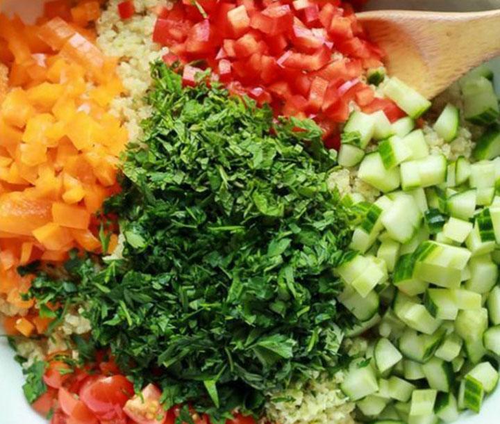 paleo diet, paleo recipes, Quiona Tabbouleh